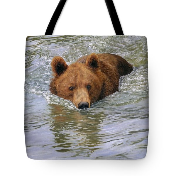 Brown Bear Tote Bag