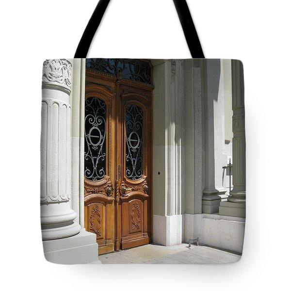 Tote Bag featuring the photograph Brown Doors by Arlene Carmel