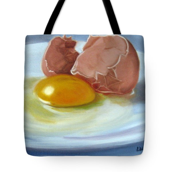 Tote Bag featuring the painting Brown Egg Study by LaVonne Hand