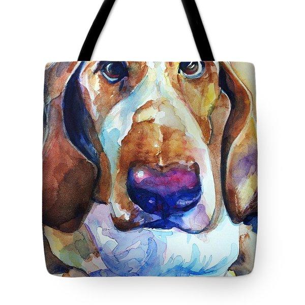 Brown Eyes Tote Bag by Maria's Watercolor