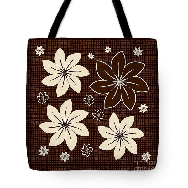 Brown Floral Design Tote Bag by Gaspar Avila