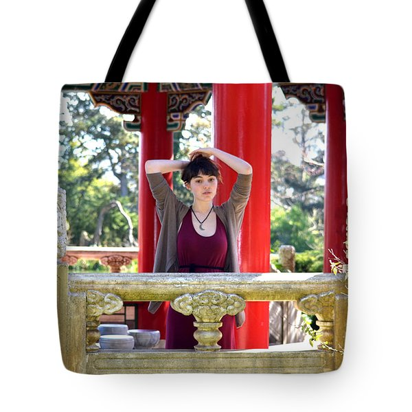 Tote Bag featuring the photograph Brown Haired And Freckle Faced Natural Beauty Model Iv by Jim Fitzpatrick