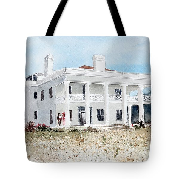Brown Mansion Tote Bag