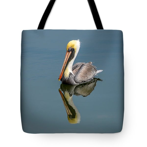 Brown Pelican Reflection Tote Bag