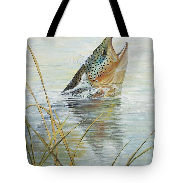 Brown Takes Damsel  Tote Bag