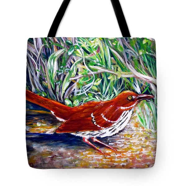 Brown Thrasher In Sunlight Tote Bag