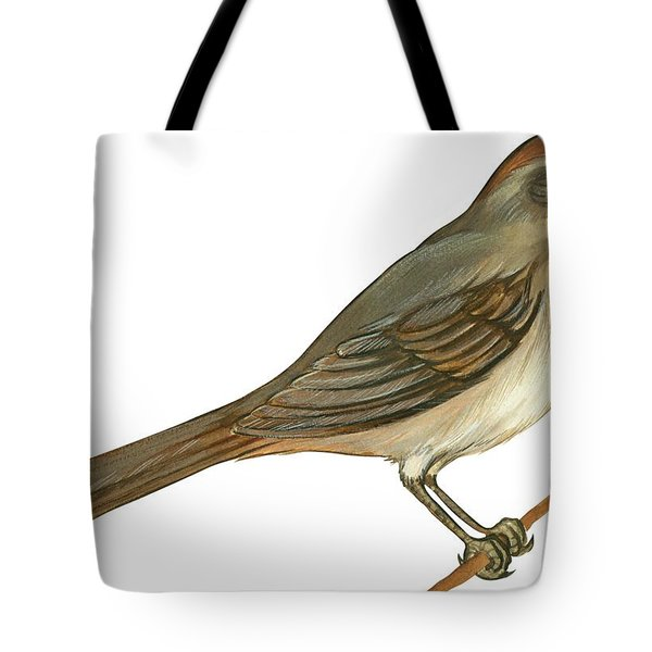Brown Towhee Tote Bag by Anonymous
