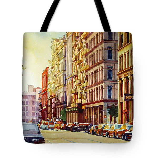 Brownstone Sunset Tote Bag