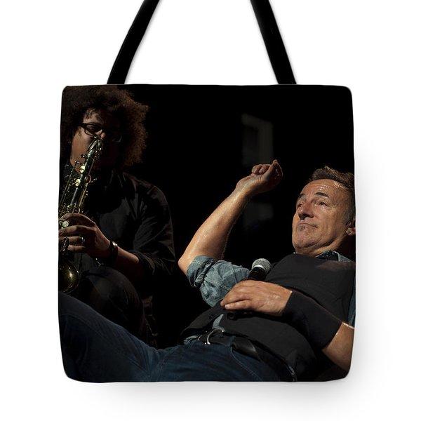 Bruce And Jake At Greasy Lake Tote Bag