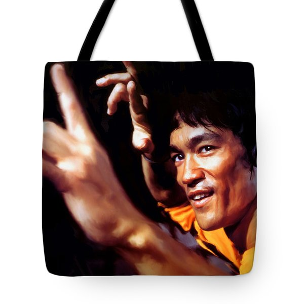 Bruce Lee Tote Bag by Paul Tagliamonte