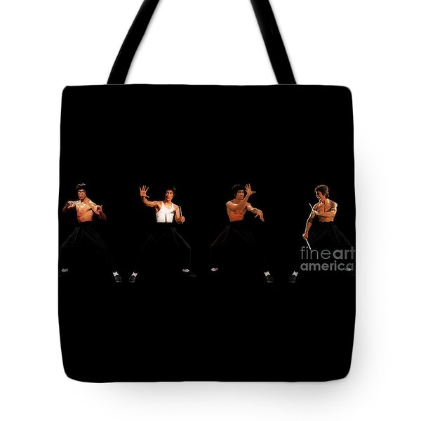 Bruce Lee Tote Bag by Doc Braham