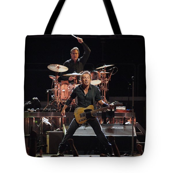 Bruce Springsteen In Concert Tote Bag