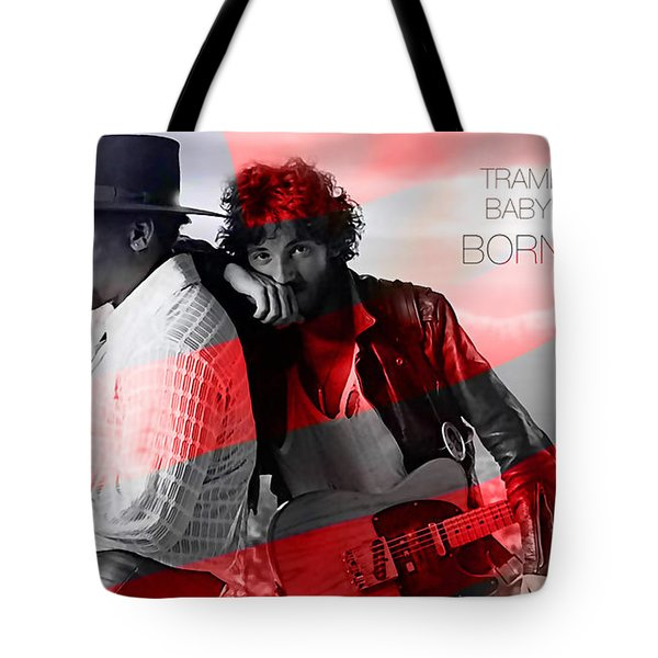Bruce Springsteen Tote Bag by Marvin Blaine