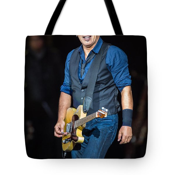 Bruce Springsteen Tote Bag by Georgia Fowler