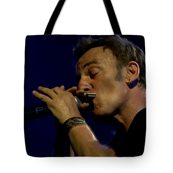 Bruce Springsteen Performing The River At Glastonbury In 2009 - 2 Tote Bag