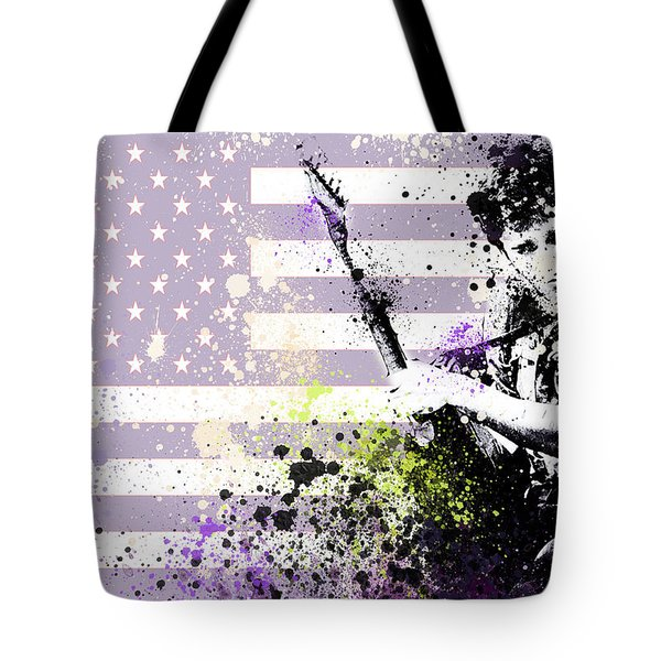 Bruce Springsteen Splats Tote Bag