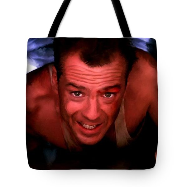Bruce Willis In The Film Die Hard - John Mctiernan 1988 Tote Bag