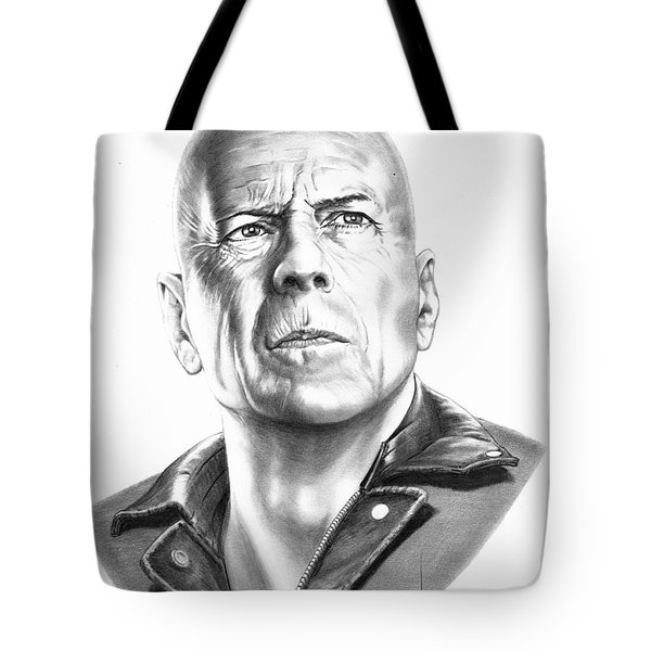 Bruce Willis Tote Bag by Murphy Elliott