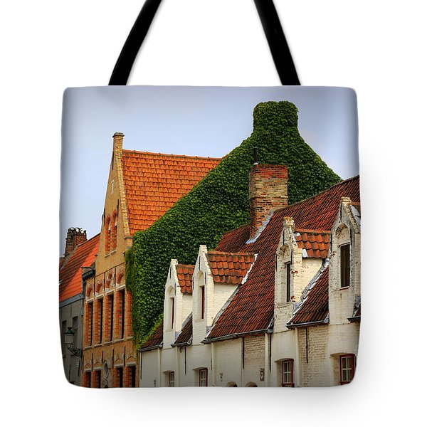 Bruges Rooftops Tote Bag by Carol Groenen