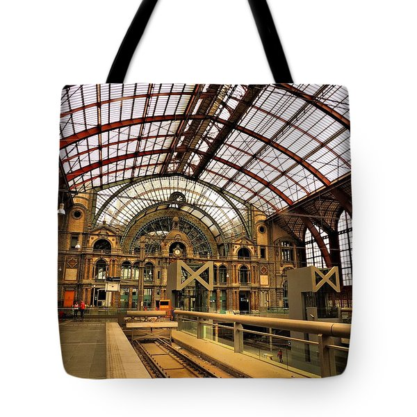 Bruges Train Station Tote Bag