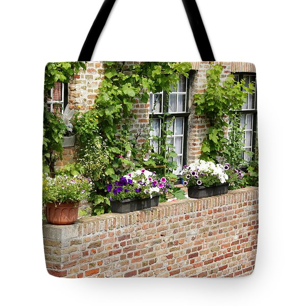 Brugge Balcony Tote Bag by Carol Groenen
