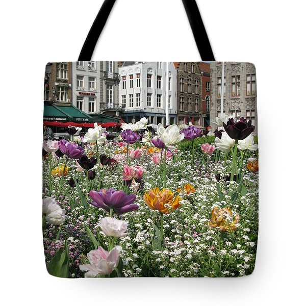 Tote Bag featuring the photograph Brugge In Spring by Ausra Huntington nee Paulauskaite