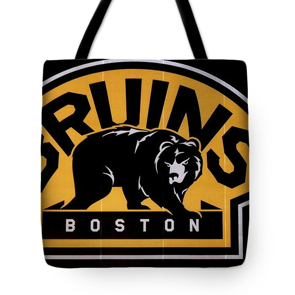 Bruins In Boston Tote Bag