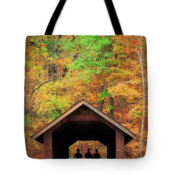 Brush Creek Covered Bridge Tote Bag