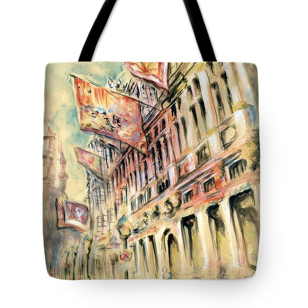 Brussels Grand Place - Watercolor Tote Bag