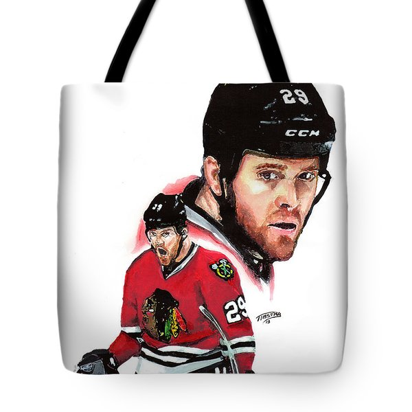 Bryan Bickell Tote Bag by Jerry Tibstra