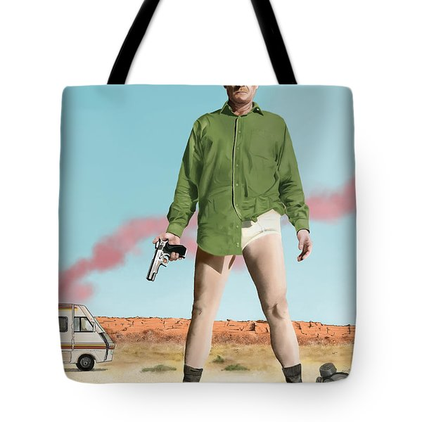 Bryan Cranston As Walter White  @ Tv Serie Breaking Bad Tote Bag