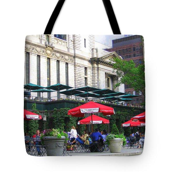 Bryant Park At Noon Tote Bag by Dora Sofia Caputo Photographic Art and Design