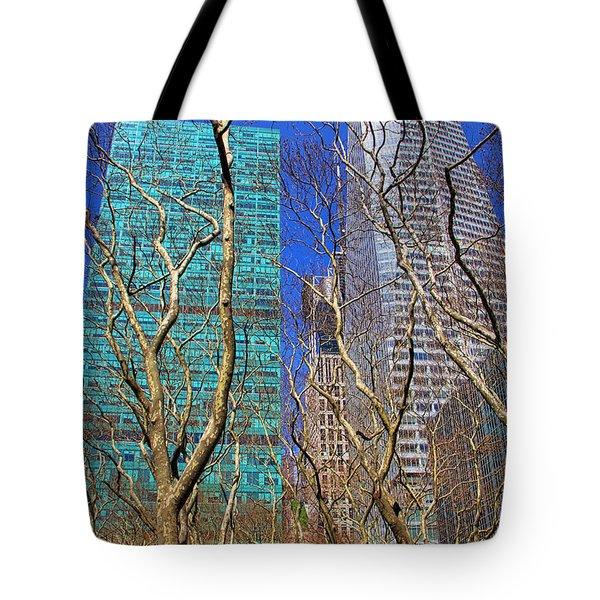 Bryant Park Tote Bag by Mariola Bitner