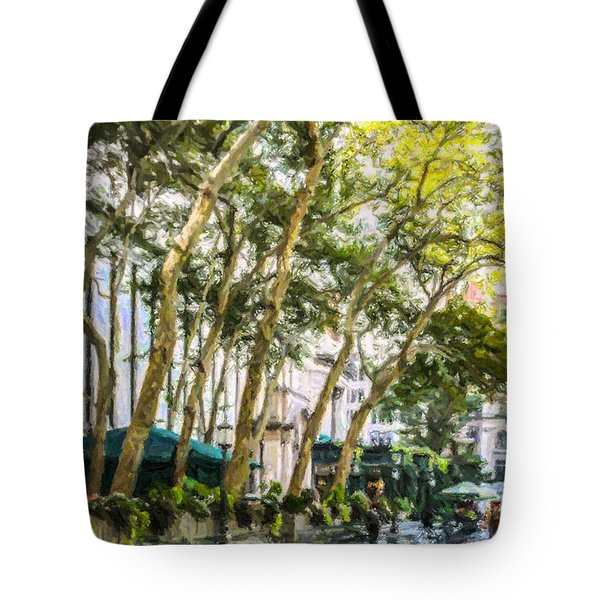 Bryant Park Midtown New York Usa Tote Bag