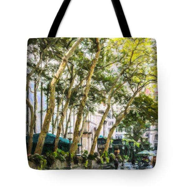 Bryant Park Midtown New York Usa Tote Bag