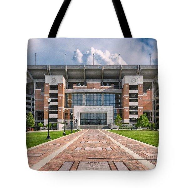 Bryant Denny Stadium Tote Bag