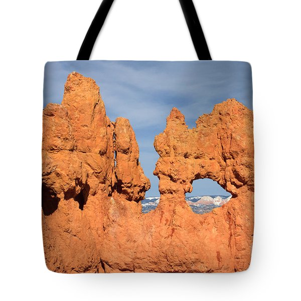 Bryce Canyon Peephole Tote Bag by Karen Lee Ensley