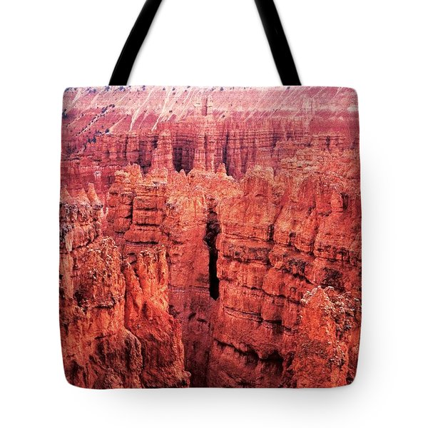 Tote Bag featuring the photograph Bryce Canyon Red by Carol Whaley Addassi