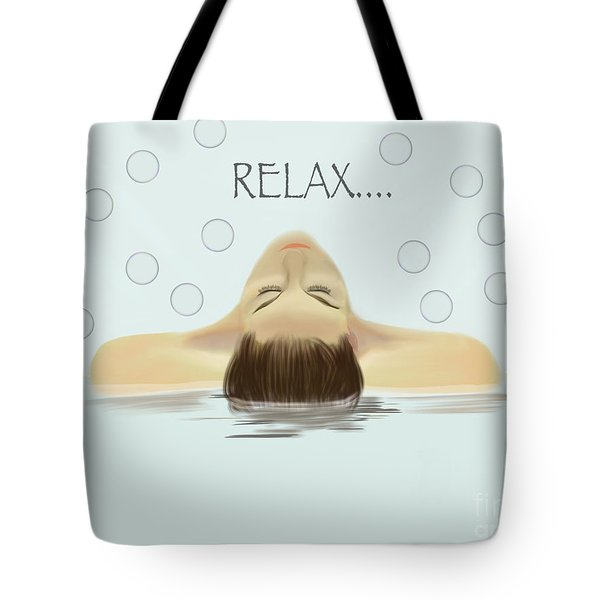 Bubble Bath Luxury Tote Bag