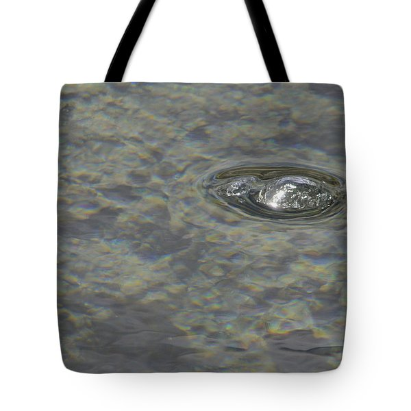 Tote Bag featuring the photograph Bubble Bubble by Nadalyn Larsen