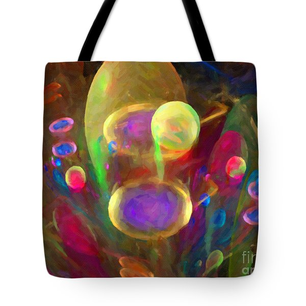 Bubble Circus Tote Bag by Dee Flouton