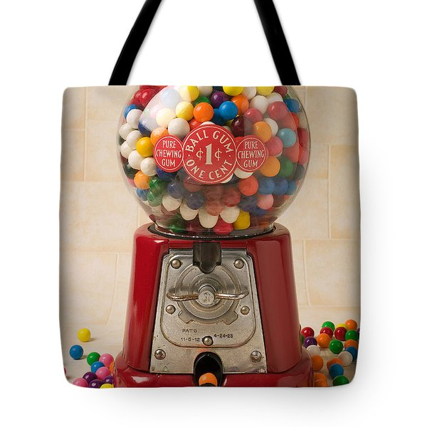 Bubble Gum Machine Tote Bag by Garry Gay