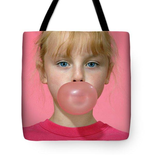 Bubble Gum Pink Tote Bag