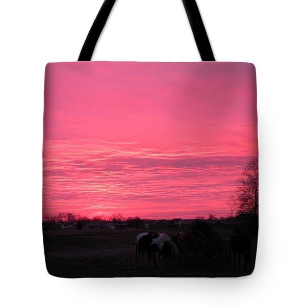 Bubble Gum Sunrise Tote Bag by Carlee Ojeda