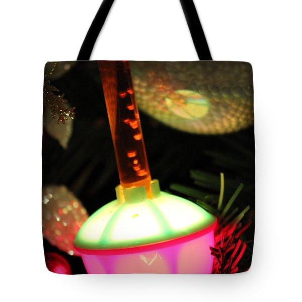 Bubble Lights Tote Bag by Jewels Blake Hamrick