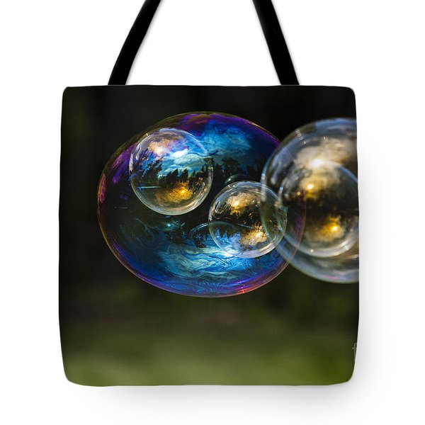 Bubble Perspective Tote Bag by Darcy Michaelchuk