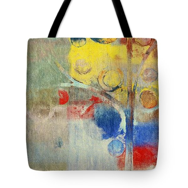 Bubble Tree - 43ff04 Right Tote Bag by Variance Collections