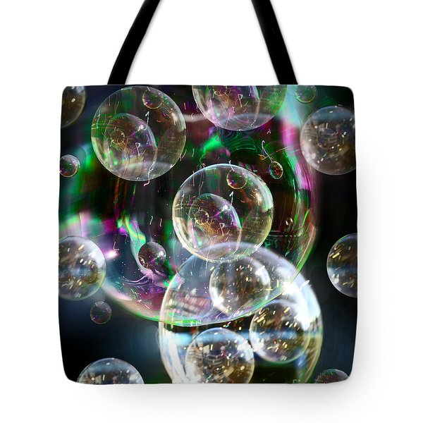 Tote Bag featuring the photograph Bubbles And More Bubbles by Nareeta Martin