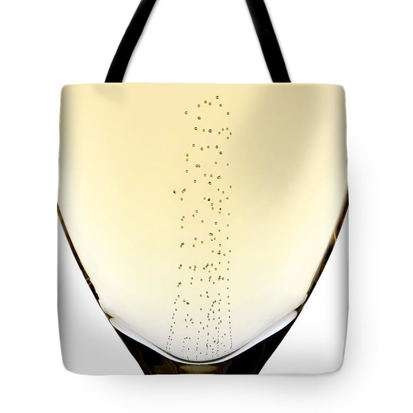 Bubbles In Champagne Tote Bag by Johan Swanepoel