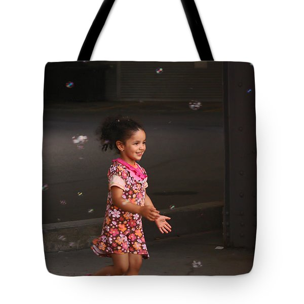 Bubbles Make The Happiest Moments Tote Bag by Aimelle